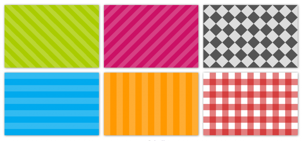 Screenshot of the CSS3 patterns I came up with