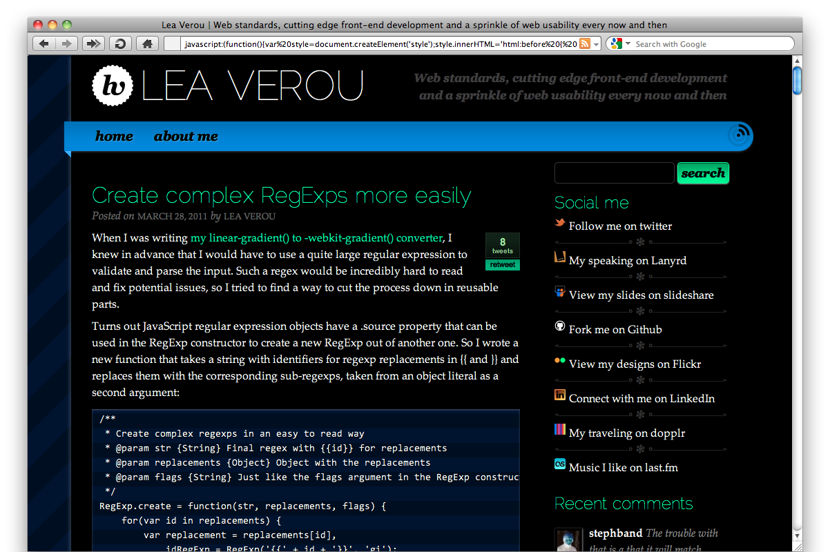 Invert A Whole Webpage With Css Only Lea Verou