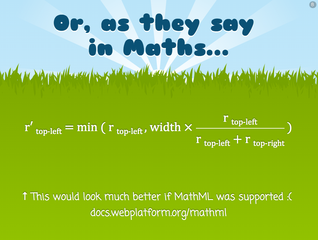 MathML in Chrome with CSS fallback